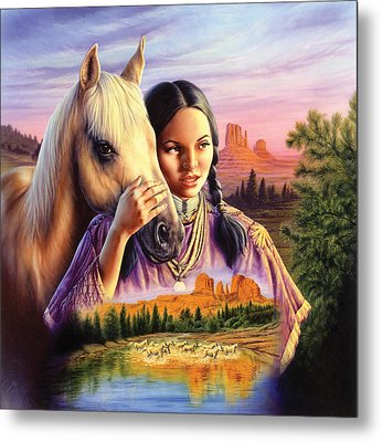 Horse Maiden Metal Print by Andrew Farley