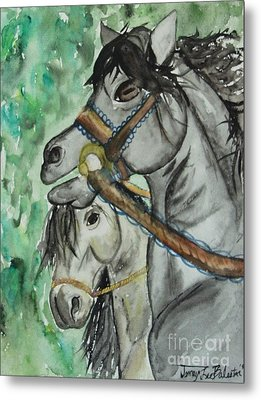 Horse Meets Carousel Pony Metal Print by Jamey Balester