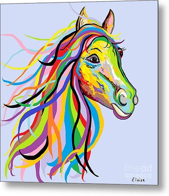 Horse Of A Different Color Metal Print by Eloise Schneider