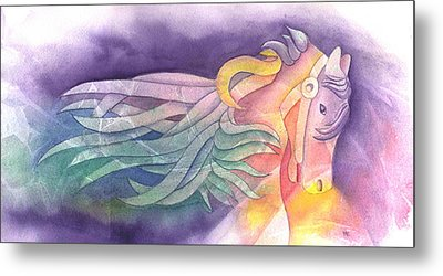 Horse Of A Different Color Metal Print by Marsha Elliott