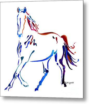 Horse Of Many Colors Metal Print by Jo Lynch