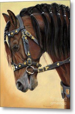 Horse Portrait  Metal Print by Svetlana Ledneva-Schukina