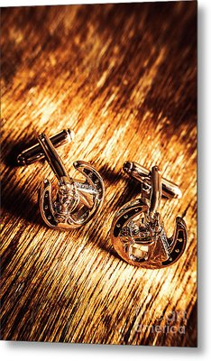 Horse Racing Cuff Links Metal Print by Jorgo Photography - Wall Art Gallery