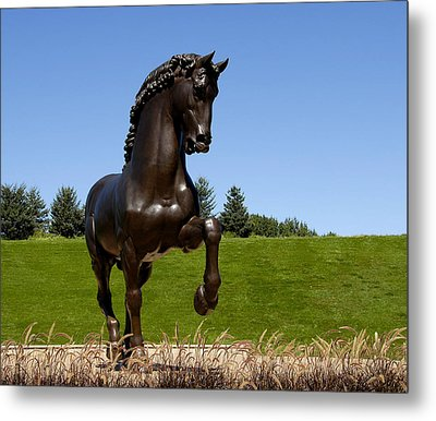 Horse Sculpture 2 Metal Print