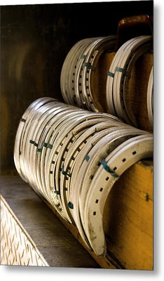 Horse Shoes Metal Print by Angela Rath