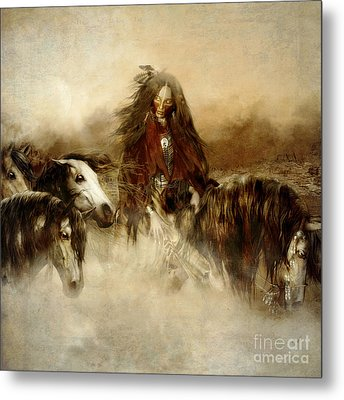 Horse Spirit Guides Metal Print by Shanina Conway