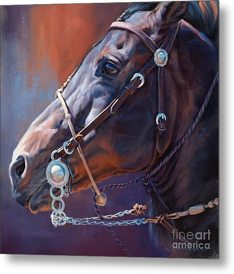 Horse Study Metal Print by Michelle Grant