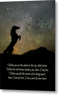 Horse Tribute And Memorial Metal Print by Stephanie Laird
