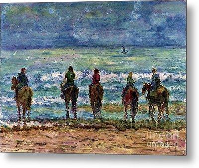 Horseback Beach Memories Metal Print