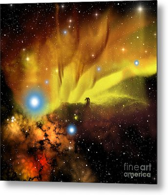 Horsehead Nebula Metal Print by Corey Ford