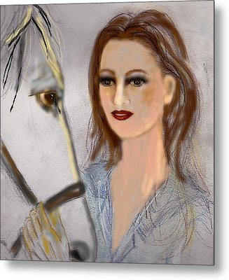 Horse'n Around Metal Print by Desline Vitto