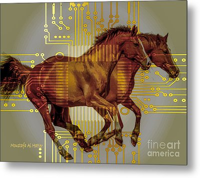 The Sound Of The Horses. Metal Print by Moustafa Al Hatter