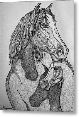 Horses Metal Print by Nick Gustafson