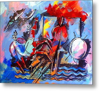 Horses On Beach Metal Print