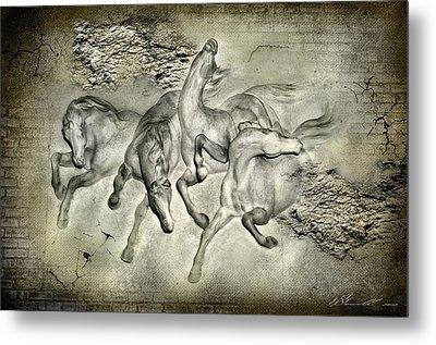 Horses Metal Print by Svetlana Sewell