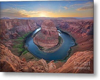 Horseshoe Bend Colorado River Arizona Metal Print by Martin Konopacki