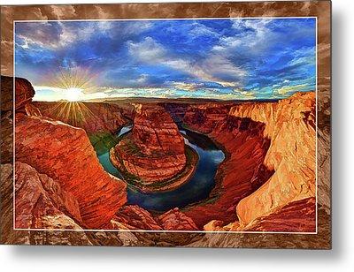 Horseshoe Bend Sunset Metal Print by ABeautifulSky Photography