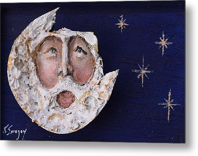 Horseshoe Crab Man In The Moon Metal Print