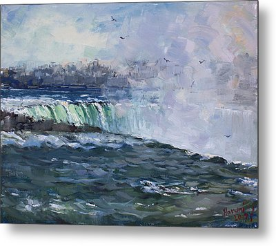 Horseshoe Falls Metal Print by Ylli Haruni