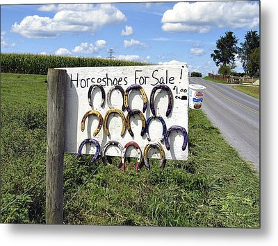 Horseshoes For Sale Metal Print