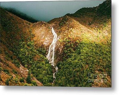 Horsetail Waterfalls Tasmania  Metal Print