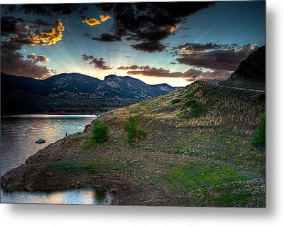 Horsetooth Reservior At Sunset Metal Print by James O Thompson