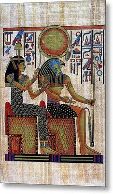 Horus And Hathor Metal Print by Bernice Williams