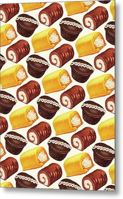Hostess Cakes Pattern Metal Print by Kelly Gilleran