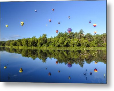 Quechee Balloon Fest Reflections Metal Print