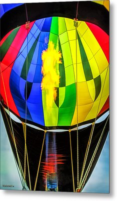 Hot Air Balloon Flame Metal Print by LeeAnn McLaneGoetz McLaneGoetzStudioLLCcom