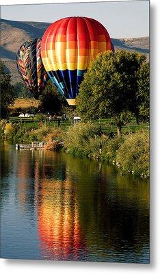 Hot Air Balloon Rally Metal Print by David Patterson
