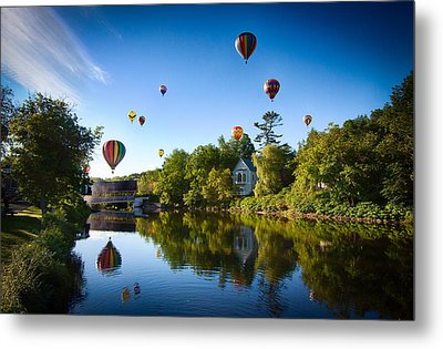 Hot Air Balloons In Queechee 2015 Metal Print by Jeff Folger