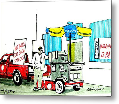 Hot Dog Guy Of Asbury Park Metal Print