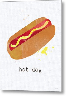 Hot Dog Metal Print by Linda Woods