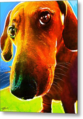 Hot Dog With Relish Metal Print