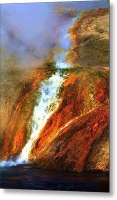 Hot Flow Metal Print by Russell  Barton
