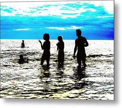 Hot Night At The Beach Metal Print