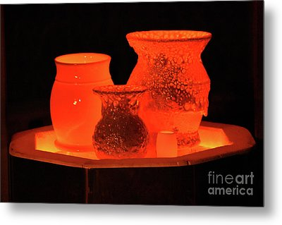 Metal Print featuring the photograph Hot Pots by Skip Willits