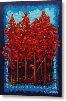 Metal Print featuring the painting Hot Reds by Holly Carmichael