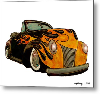 Hot Ride Metal Print by W Gilroy