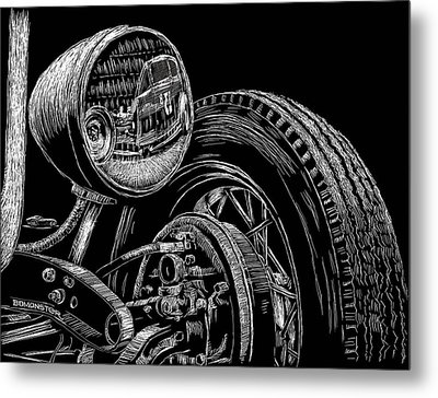 Hot Rod Bob Metal Print by Bomonster