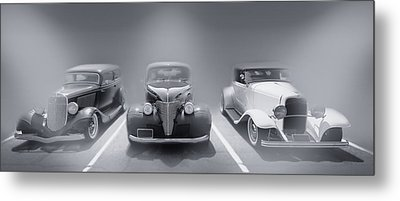 Hot Rod Power Black And White Poster Metal Print by Dapixara Art