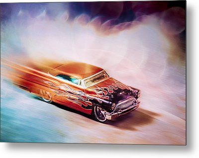 Hot Rod Racer Metal Print