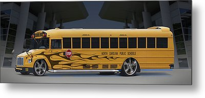Hot Rod School Bus Metal Print by Mike McGlothlen