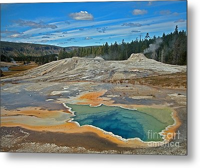 Hot Spring Metal Print by Robert Pilkington