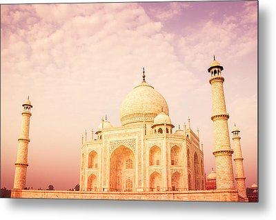 Hot Taj Mahal Metal Print