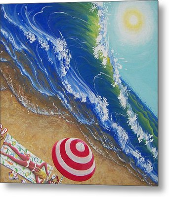 Hot Time In The Summer Sun Metal Print by Marjorie Hause