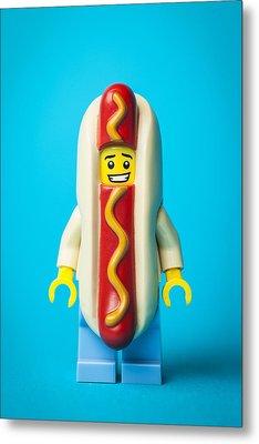 Hotdog Dude Metal Print