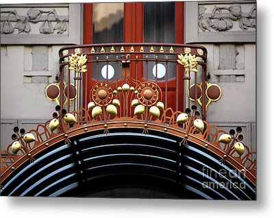Hotel Balcony Design Metal Print by John Rizzuto