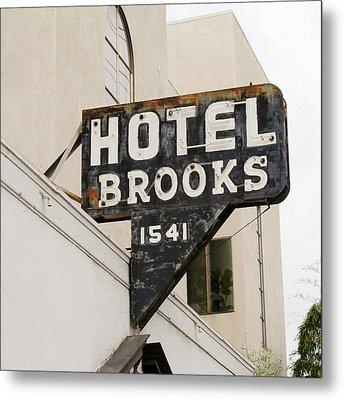 Hotel Brooks Metal Print
